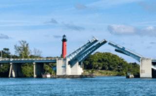 Jupiter Bridge and lighthouse